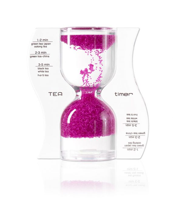 pink tea timer in our tea accessories range