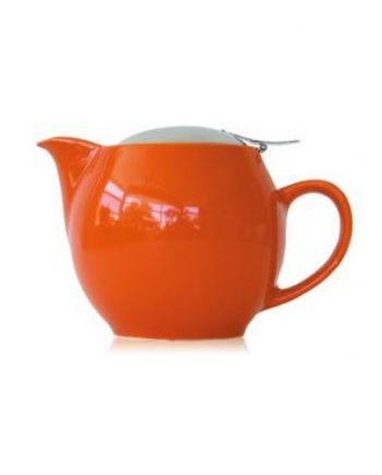 Pumpkin Orange teapot that holds 2-3 cups
